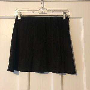 brandy melville black velvet skirt